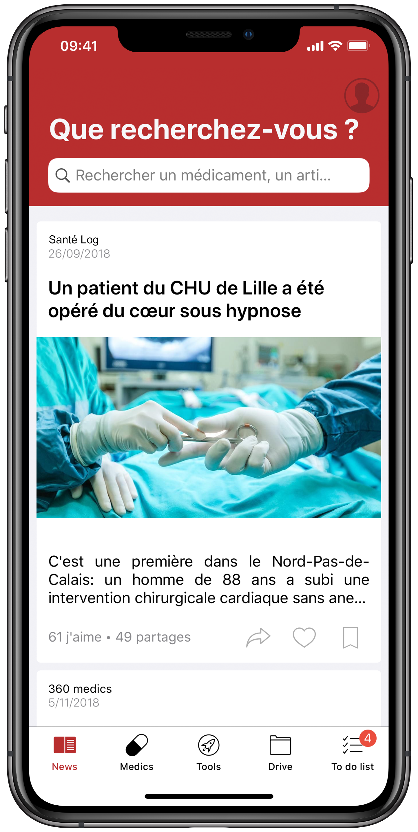 360 medics, a hyperspecialized and personalized news feed